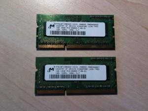 2x1GB Notebook Arbeitsspeicher